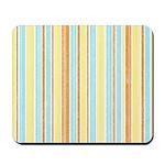 Orange, Yellow, Blue Stripe Mousepad