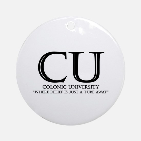 Colonic University Ornament (Round)
