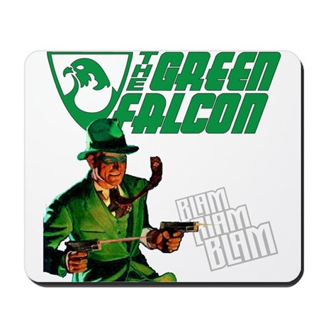 The Green Falcon Mousepad
