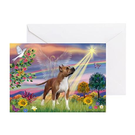 Cloud Angel & Amstaff Greeting Cards (Pk of 10)