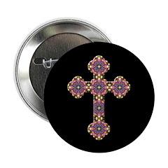 """Christian Cross 2.25"""" Button (10 pack)"""