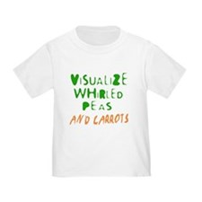 Visualize whirled peas and carrots kids t-shirt