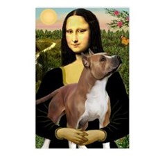 Mona Lisa (new) & Amstaff Postcards (Package of 8)