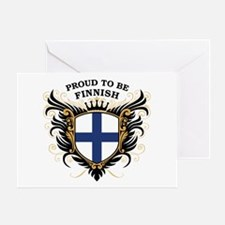 Proud to be Finnish [back print] Greeting Card