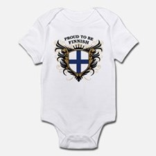Proud to be Finnish [back print] Infant Bodysuit