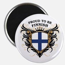 Proud to be Finnish [back print] Magnet
