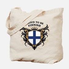 Proud to be Finnish [back print] Tote Bag