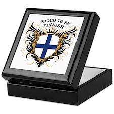 Proud to be Finnish [back print] Keepsake Box