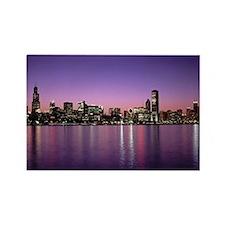Chicago Nitetime Skyline Rectangle Magnet