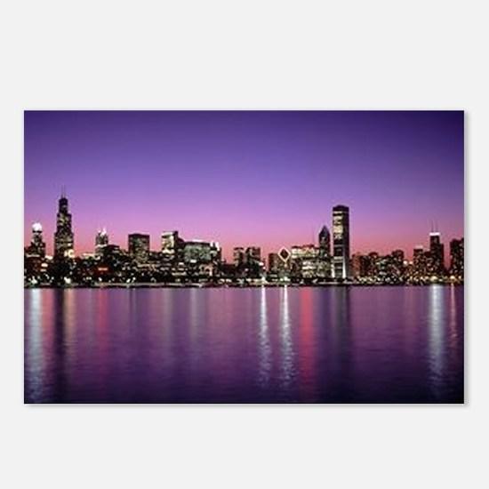 Chicago Nitetime Skyline Postcards (Package of 8)