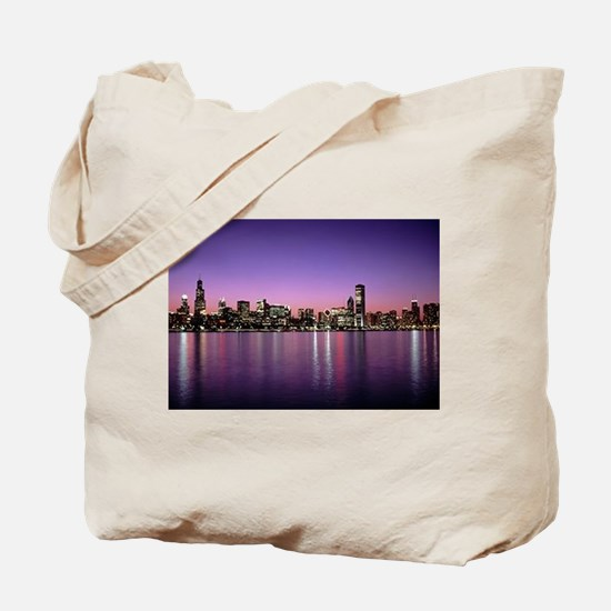 Chicago Nitetime Skyline Tote Bag