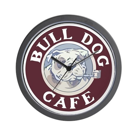 Bulldog Cafe Wall Clock