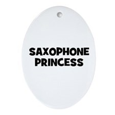 Saxophone princess Oval Ornament