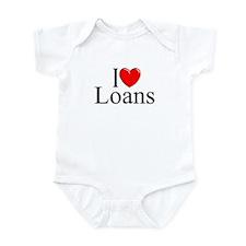 """""""I Love (Heart) Loans"""" Infant Bodysuit"""