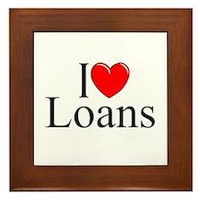 """""""I Love (Heart) Loans"""" Framed Tile"""