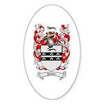 Palmer Family Crest Oval Sticker