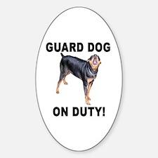 Helaine's GUARD DOG Sticker (Oval)