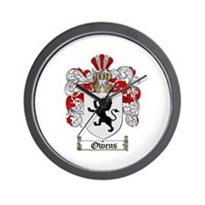 Owens Family Crest Wall Clock