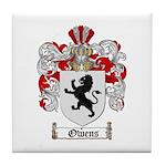 Owens Family Crest Tile Coaster