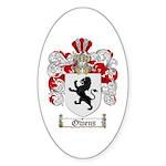 Owens Family Crest Oval Sticker