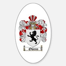 Owens Family Crest Oval Stickers