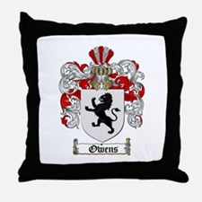 Owens Family Crest Throw Pillow