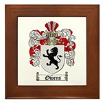 Owens Family Crest Framed Tile