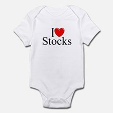 """I Love (Heart) Stocks"" Infant Bodysuit"