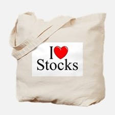 """I Love (Heart) Stocks"" Tote Bag"