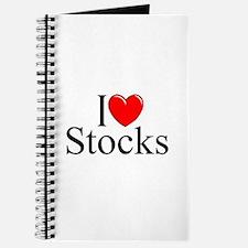 """""""I Love (Heart) Stocks"""" Journal"""