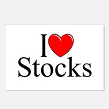 """I Love (Heart) Stocks"" Postcards (Package of 8)"