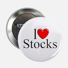 """I Love (Heart) Stocks"" 2.25"" Button"