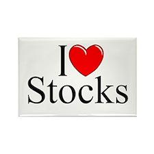 """""""I Love (Heart) Stocks"""" Rectangle Magnet"""