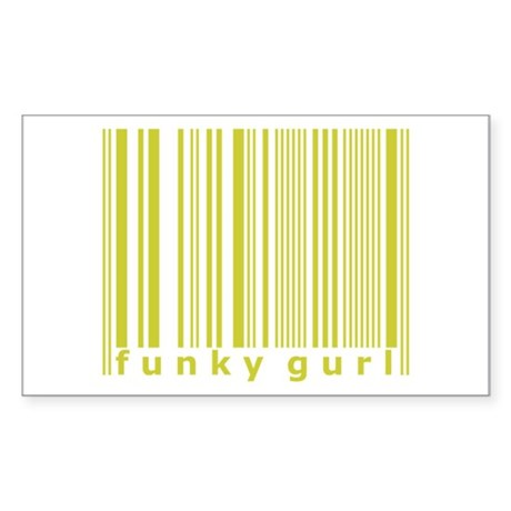Funky Gurl Trendy Urban Barko Sticker (Rectangular