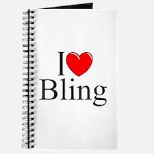 """""""I Love (Heart) Bling"""" Journal"""