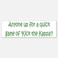 Kick the Kappa 3 Bumper Bumper Bumper Sticker