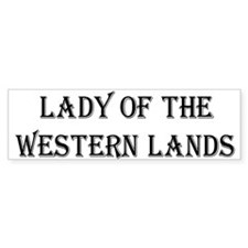 Lady W Lands 1 Bumper Bumper Sticker