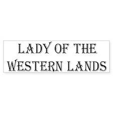 Lady W Lands 1 Bumper Car Sticker