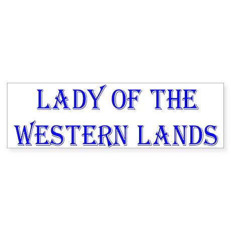 Lady W Lands 2 Bumper Sticker