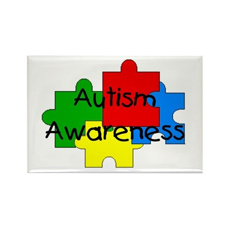Autism Awareness Rectangle Magnet (100 pack)