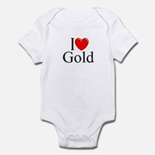 """I Love (Heart) Gold"" Infant Bodysuit"