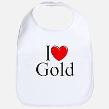 """I Love (Heart) Gold"" Bib"