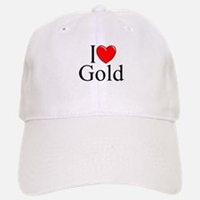 """I Love (Heart) Gold"" Baseball Baseball Cap"