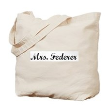 Mrs. Federer Tote Bag