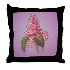 Lilac and Violet Throw Pillow
