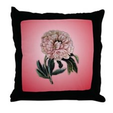 Bold Redoute peony throw pillow