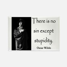 OSCAR WILDE STUPIDITY QUOTE Rectangle Magnet