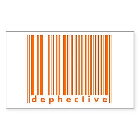 Dephective Trendy Urban Barkode Sticker (Rectangul