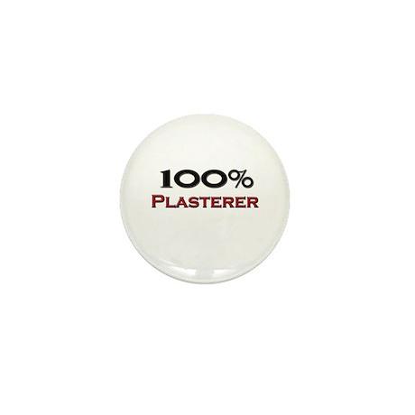 100 Percent Plasterer Mini Button (10 pack)