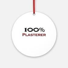 100 Percent Plasterer Ornament (Round)